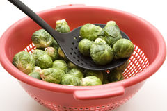 Brussels sprouts in the sieve Stock Photography
