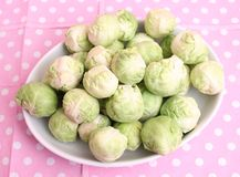 Brussels sprouts. Some fresh green brussels sprouts in a bowl Stock Images