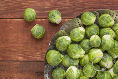Brussels sprouts in steamer Royalty Free Stock Photography