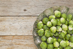 Brussels sprouts in steamer Royalty Free Stock Images