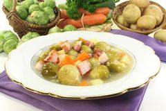 Brussels sprouts stew Stock Photography