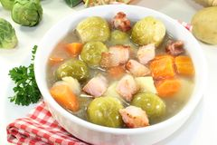Brussels sprouts stew Stock Photo
