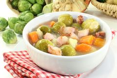 Brussels sprouts stew Stock Image