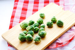 Brussels sprouts on the table Stock Image