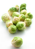 Brussels sprouts top view Royalty Free Stock Photos