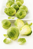 Brussels sprouts on white Royalty Free Stock Photo