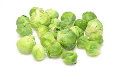 Brussels sprouts in a white background Stock Image