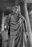 Brussels -  Statue of Cicero from Justice palace Royalty Free Stock Photo