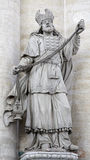 Brussels - Statue of high priest from Saint Nichol Stock Images