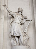 Brussels - statue of king David Stock Image