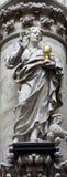 Brussels -  Statue of st. John the Evangelist Stock Photos
