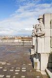 brussels statyer Arkivfoto
