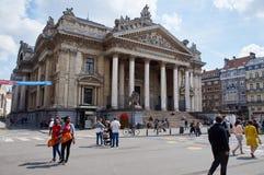 Brussels Stock exchange Stock Photos