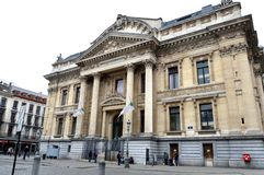 Brussels Stock Exchange built in the Neo-Renaissance and Second Empire architectural styles located in Brussels, Belgium Stock Photos