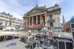 Brussels Stock Exchange Stock Image