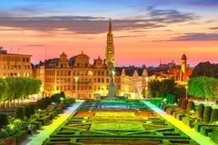 Brussels at sunset, Brussels, Belgium stock photos