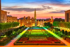 Brussels at sunset, Brussels, Belgium royalty free stock photos