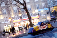 Brussels taxi. In Christmas time Stock Photography