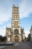 Brussels - tower of Saint Baaf's Cathedral Royalty Free Stock Photos