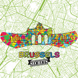 Brussels Travel Secrets Art Map Royalty Free Stock Photography