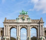 Brussels Triumphal Arch Royalty Free Stock Images