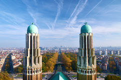 Brussels - a view from National Basilica of the Sacred Heart Stock Photo