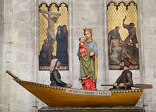 Brussels - Virgin Mary as symbolic mother of the Catholic Church. Stock Images