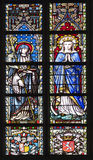 Brussels -  Virgin Mary and saints - Notre Dame du Sablon Royalty Free Stock Photography