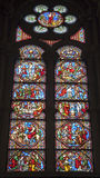 Brussels - windowpane in Saint Michael s cathedral Stock Photos