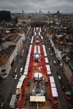 Brussels Xmas Market Stock Photo