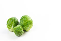 Brussles sprouts isolated on white. Raw and uncooked brussels sprouts isolated on white stock photo