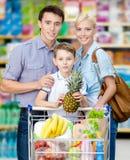 Brustbild der Familie im Speicher Lizenzfreie Stockfotos
