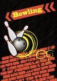 brustet bowla abstrakt affisch Royaltyfria Foton