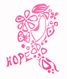 Brustkrebs-Bewusstseinsfarbband Stockfoto