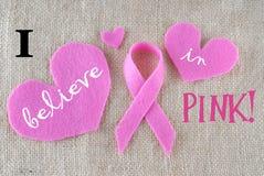 Brustkrebs-Bewusstseinsmonat Stockbild