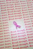 Brustkrebs-Bewusstseinssymbol. stockbilder