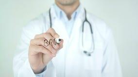 Brustkrebs, cancro al seno nella scrittura tedesca sul vetro video d archivio