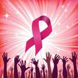 Brustkrebs-Farbbandvektor Lizenzfreie Stockbilder