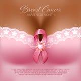 Brustkrebsbewusstsein vektor abbildung