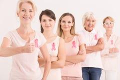Brustkrebsgrundlage Stockfoto