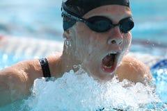 Brustschwimmen: Alpe Adria Sommer-Spiele 2010 Stockbild