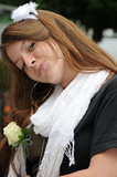 Brutaal - het romantische portret van de Jeugd Stock Fotografie