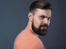 Brutal bearded man Royalty Free Stock Photo