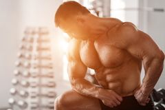 Brutal bodybuilder Royalty Free Stock Photography