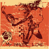 Brutal love. Grunge and disstresed love background Royalty Free Stock Photography