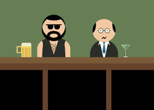 Brutal man in bar. Royalty Free Stock Photography