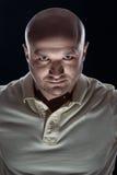 Brutal portrait of a bald man bristles Stock Photos