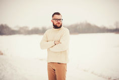Brutal portrait of a man with a beard Royalty Free Stock Images