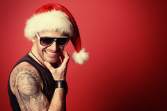 Brutal santa Royalty Free Stock Images