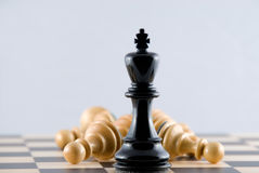 Brutal victory. Chess. Royalty Free Stock Image